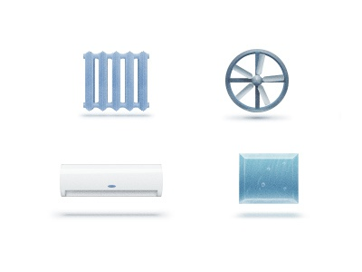 Website Icons icon teaser illustration water radiator air conditioner fan