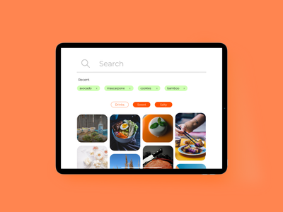 Daily UI 022 - Search Hint tablet hint search bar search daily ui web userinterface uidesign art dailyui app design ux ui