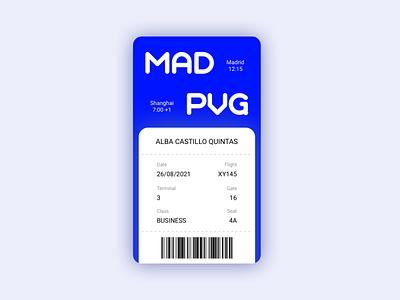Daily UI 024 - Boarding Pass ux design ui design boarding pass boarding daily ui userinterface uidesign art minimal dailyui app design ux ui