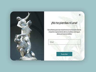 Daily UI 026 - Subscribe popup diseño ui diseño ux subscribe uxdesign daily ui userinterface uidesign minimal art dailyui design ux ui