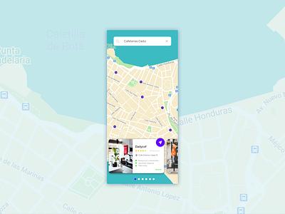 Daily UI 029 - Map card interface map uxdesign daily ui userinterface uidesign minimal app dailyui design ux ui