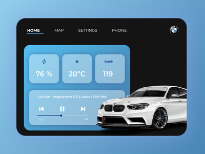 Daily UI 034 - Car Interface interface car interface car typography icon userinterface uidesign minimal app dailyui design ux ui