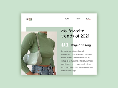 Daily 035 - Blog Post interface design trends fashion blog fashion blog post blog interface uxdesign icon userinterface uidesign minimal app dailyui design ux ui