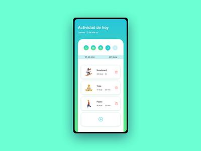 Daily UI 041 - Workout Tracker dailyuichallenge workout app workout tracker workout designer icon daily ui userinterface uidesign minimal app dailyui design ux ui