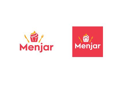 Menjar - Dessert Shop Logo design logo restaurant logo kitchen logo cupcake logo cooking cherry branding dessert shop logo