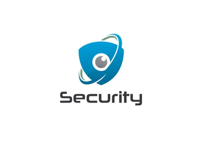 Security Logo agency shield eye security logo branding