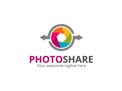 Photo Share Logo sharing app photography app photography logo branding