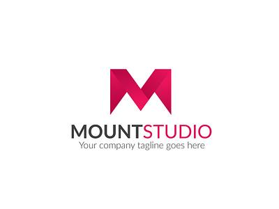 Mountain Studio Logo agency m logo app logo branding
