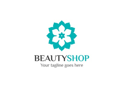 Beauty Shop Logo flower fragrance care shop beauty logo branding