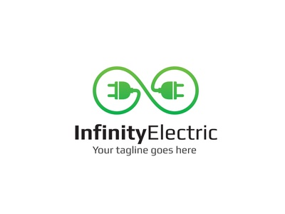 Infinity Electric Logo power charge electric design logo app branding