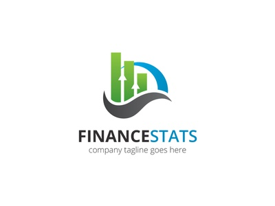 Finance Stats Logo marketing arrow statistics finance app financial finance agency branding
