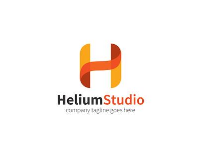 Helium Studio Logo 01 letter logo h logo logo h h letter hlogo beauty agency app branding