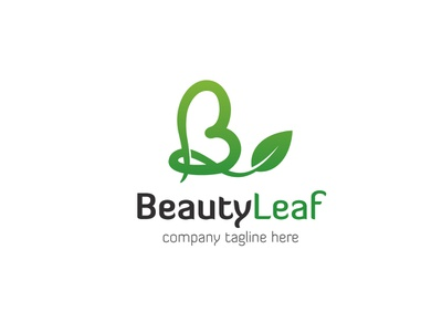 Beauty Leaf Logo saloon leaf b letter logo letter b care beauty app logo branding