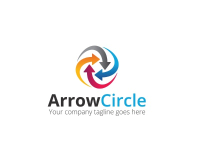 Arrow Circle Logo financial arrow care app agency branding