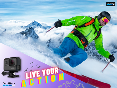 GoPro-Live Your Action - web banner shoot acton cam vlog moto cam action banner ad gopro