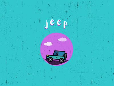 Retro Jeep desktop wallpaper pink teal bubblegum vehicle car jeep retro
