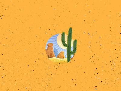 Desert Vogue yellow arabian sand drawing catcus cactus illustration desert illustration desert