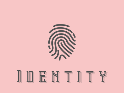Identity secure logo minimal minimalistic wallpapers lockscreen lock security biometrics bio fingerprint identity design identity