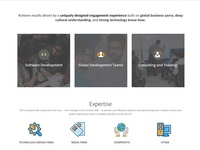 Services on homepage