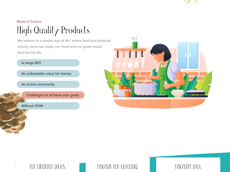 High Quality Food: Landing Page homepage landing page