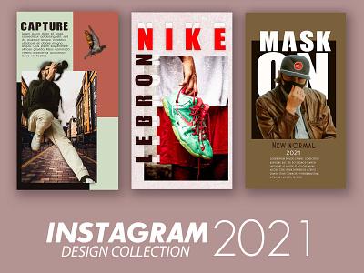 INSTAGRAM COLLECTION app web illustration 2020 2021 branding socialmedia social media design marketing poster ads ads magazine poster instagram stories instagram post