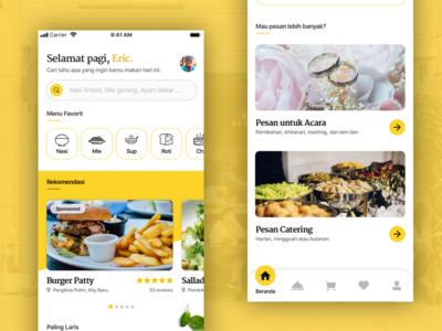 Food Order Home Screen