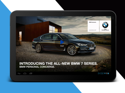 BMW 7 Series Android Tablet