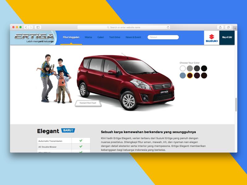 Suzuki Ertiga Website by Ihsan Rama | Dribbble | Dribbble