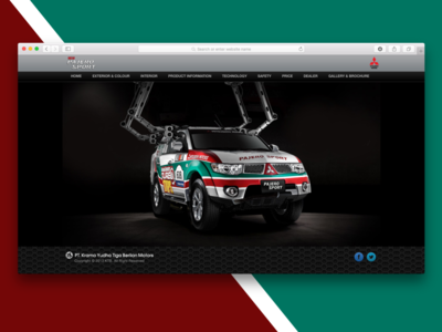 Mitsubishi Pajero Sport Microsite