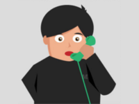 Momo on the Phone