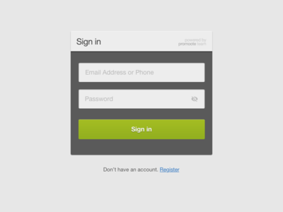 Sign in for Dashboard