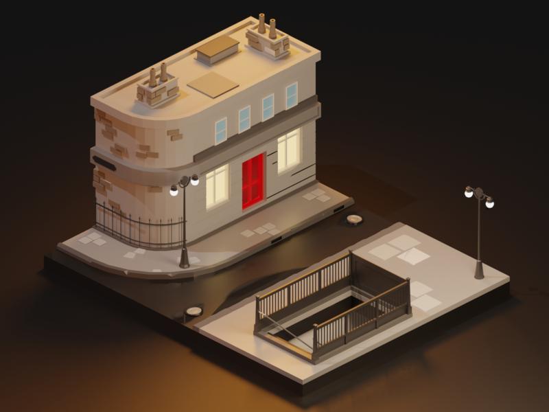London Vibes vibes london render lowpolyart lowpoly illustration isometric diorama city blender 3d