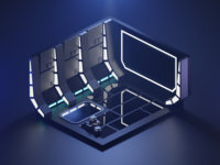 Space Vibes space tutorial diorama lowpoly isometric art isometric blendercycles blender 3d art 3d