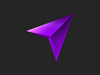 Map Icon  icon map gradient violet ai ps light outline cartographer shadow vector