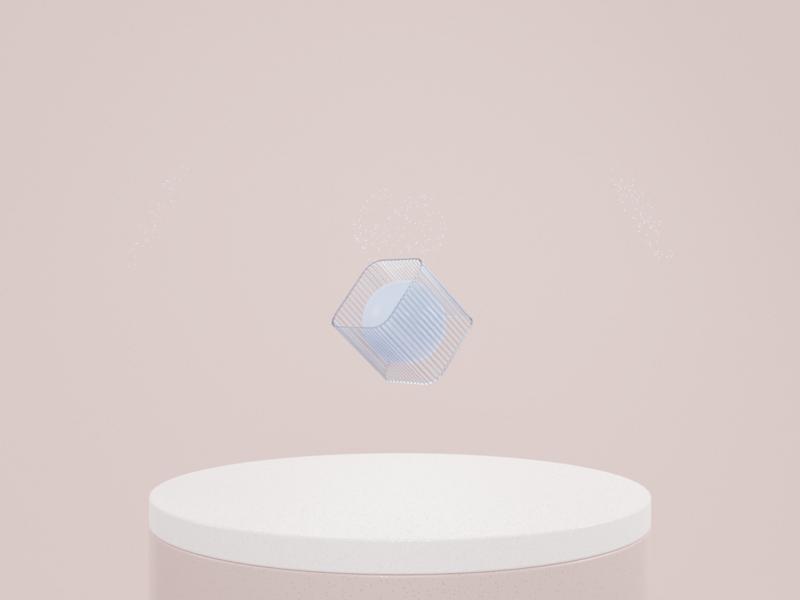 A B S T R A C T — 002 rose gold glass shapes rose palette minimal b3d abstract design blender 3d abstract