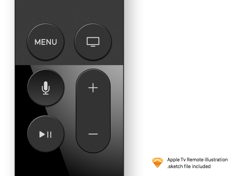 Apple Tv Remote illustration  sketch illustration diamante apple remote tv