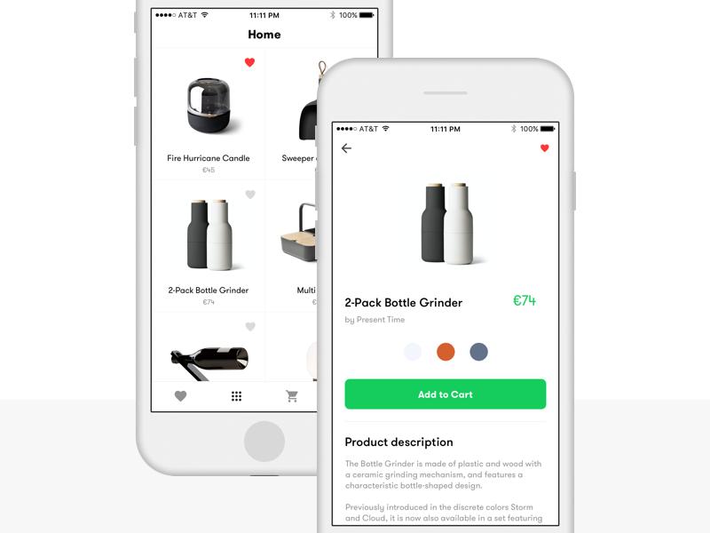 Ecommerce App  ios app ecommerce ux ui