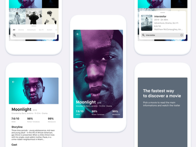 Locandina - the fastest way to discover a movie mobile ux ui detail search movies posters locandina