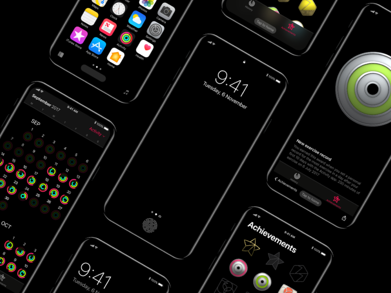 Iphone8   concept navigation screens andreacau