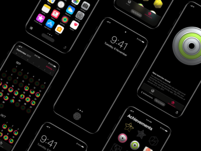 iPhone 8 - Concept navigation screens