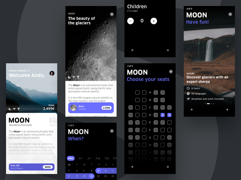 SPACED iOS app iphonex experience space travel planet moon app ios spacedchallenge