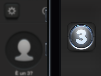 [ICON] Credito per Tre  credito per tre iphone 4 app ui restyling black grey icon ios