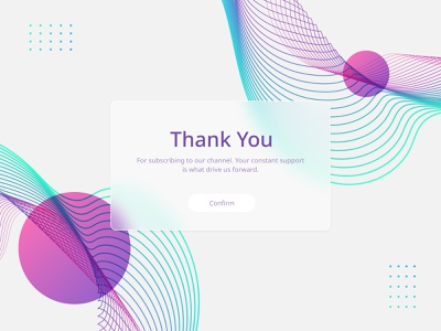Daily UI 077 - Thank You glassmorphism dailyui web graphic design daily ui design minimal flat ui