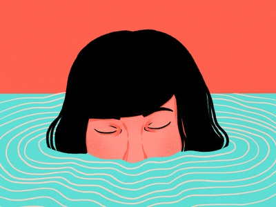 Do not drown procreate girl agua drown water illustration