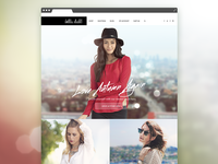 Fashion Site Homepage