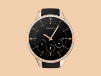 Rose Gold Diamond Studded Moto 360
