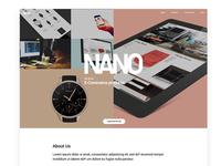 Nano - Agency Homepage