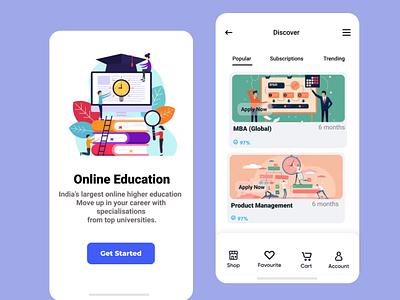 Online Education minimal illustrator logo illustration graphic design design app branding education website education logo education animation
