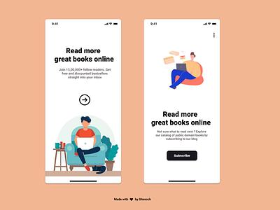 Online Book Store Guide online book guide typography illustration illustrator book cover book graphic design design branding app animation