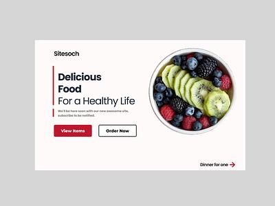 Healthy Life minimal ui ux typography illustration branding graphic design animation uiux landing page health food